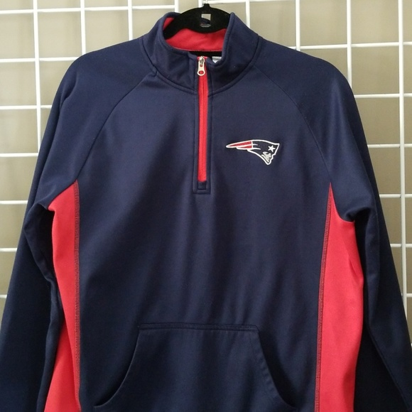 13a795e87b2  NFL  NE Patriots Oversized 1 4 Zip. M 5bd1f8e9819e90532238a6b9